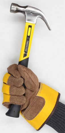 Heavy Duty Winter Lined Leather Work Gloves - Handling Tools