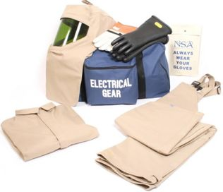 NSA HRC 4 Arc Flash Suit KIT4SC40EC with Jacket and Bib Overall