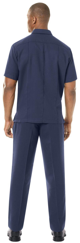 Workrite FR Shirt FSU2, Untucked Uniform, Station No. 73 Navy Example Back
