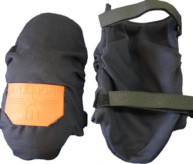 Foam padding knee pads with arc flash rated fire resistant covers