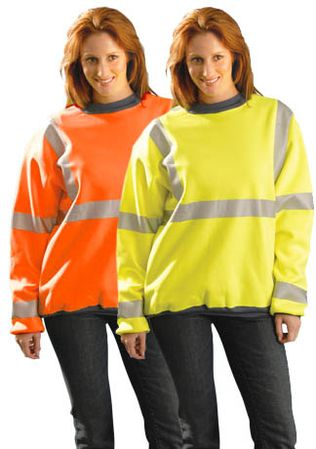Occunomix Premium Hi Vis Wicking Crew Sweatshirt LUX-SWT3