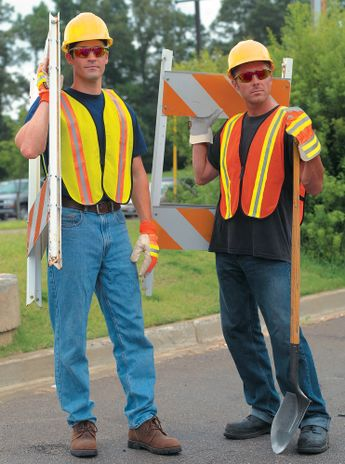 MCR Safety River City Safety Vest V200R - High Visibility, Reflective Stripes, Lime Color Example