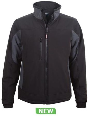 RefrigiWear Cold Weather Apparel - Insulated Softshell Jacket 0490 - Black