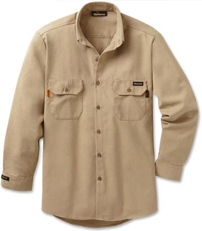 Workrite 7 oz Nomex FR Dress Shirt 258MH70 Khaki