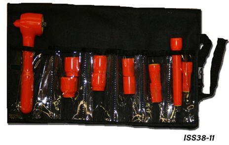 "Cementex ISS38-11 3/8"" Square Drive Socket Set, 11PC"