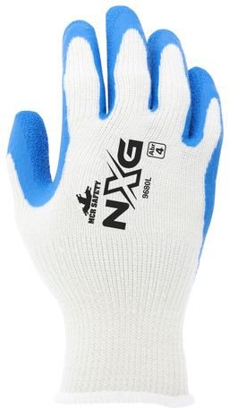 MCR Safety FlexTuff Gloves 9680 with Textured Latex Palms Back