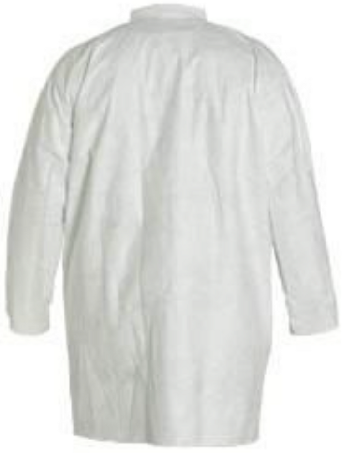 DuPont Tyvek Frock with Open Wrists & Front Snap Closure - TY210SWH Back
