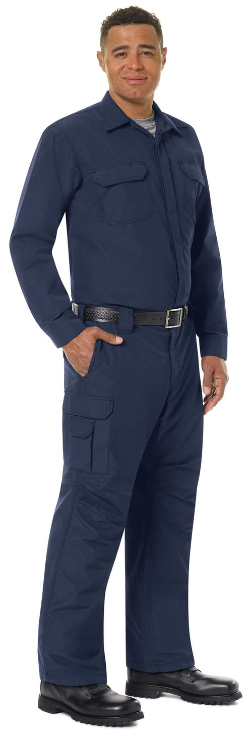 Workrite FR Shirt Jacket FST2, Ripstop, Tactical Navy Example Right