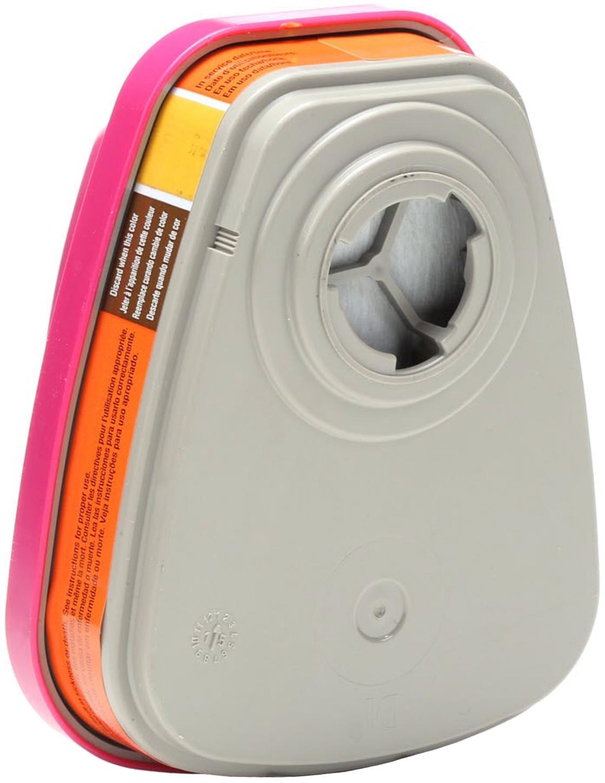 3M 60929 Mercury Vapor - Chlorine Gas Cartridges with P100 Filter Back