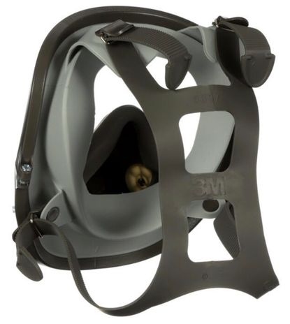 3M 6000 Series Full Face Respirator Back