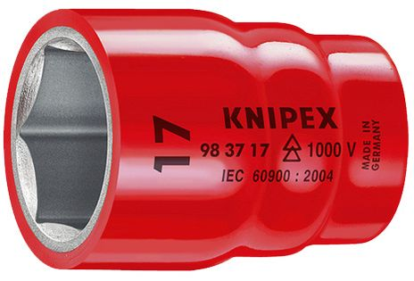 """Knipex Tools Metric Insulated Hexagon Sockets For 3/8"""" Driver"""