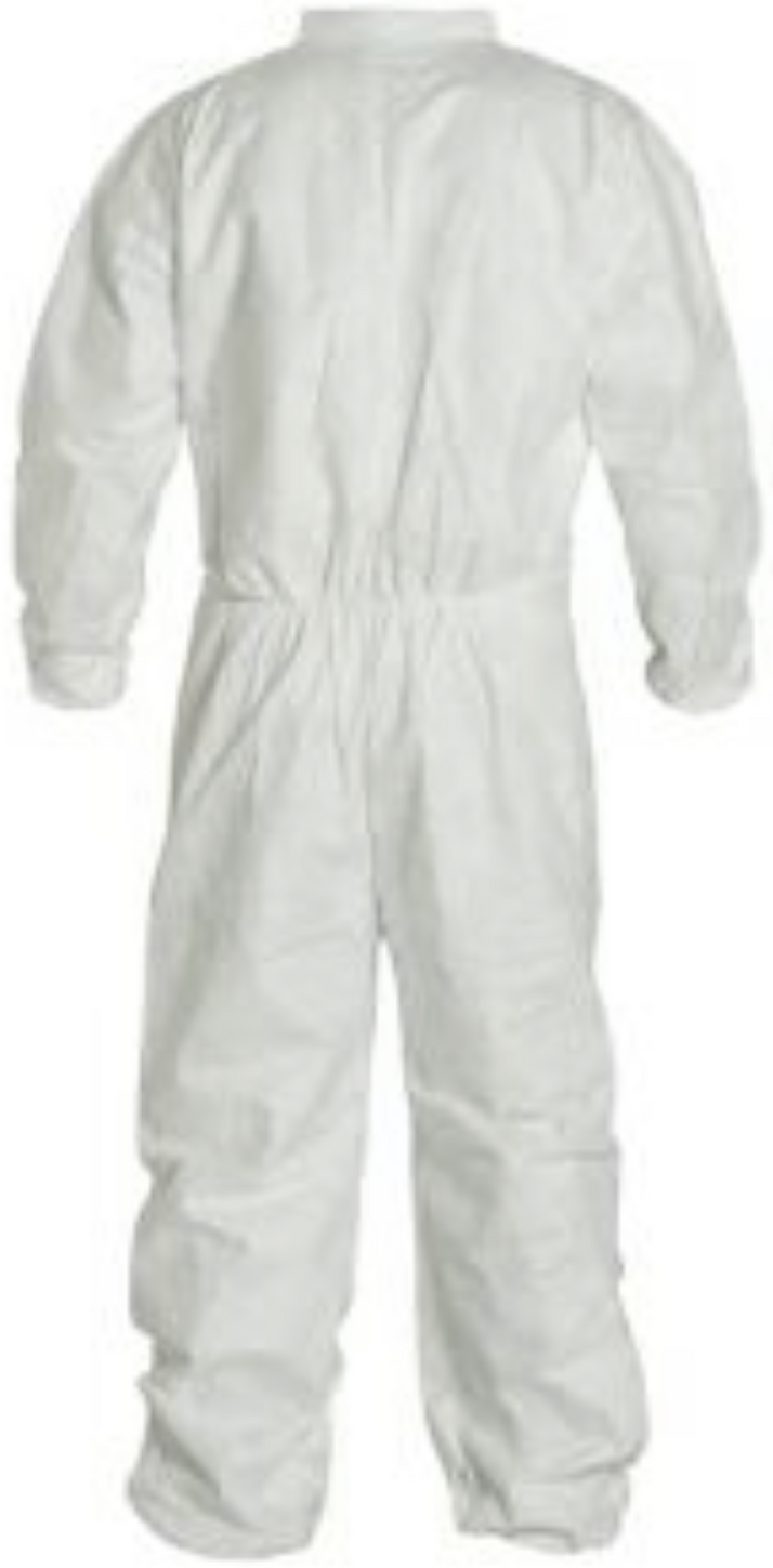DuPont Tyvek Disposable Coverall with Elastic Wrists & Ankles - TY125SWH Back