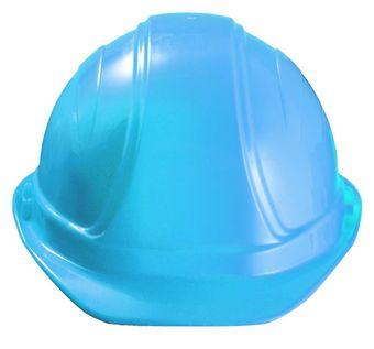 Occunomix V100 Regular Brim Hard Hat w/Squeeze Lock Suspension Blue