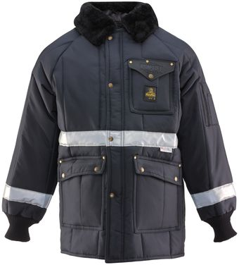 RefrigiWear 0343 Iron-Tuff Siberian Vinter Work Coat With Reflective Tape Front