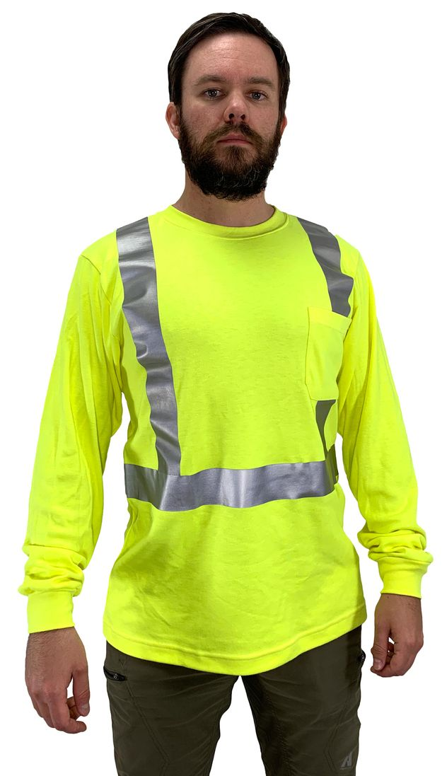 Occunomix Hi Vis FR Fire Retardant Arc Flash Long Sleeve Shirt - FR-TM2212 Front