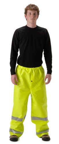 nasco arclite hi vis arc flash rated yellow rain pant