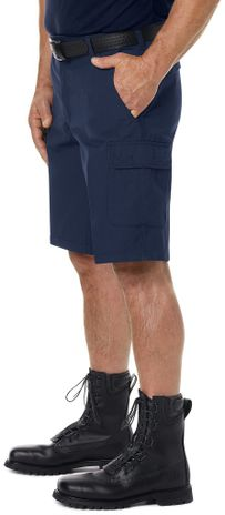 Workrite FR Cargo Shorts FP42, Classic 12-Inch Navy Example Left