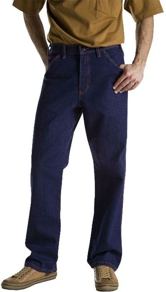 Dickies Men's Jeans - Industrial Regular Fit Jean C993 - Rinsed Indigo Blue
