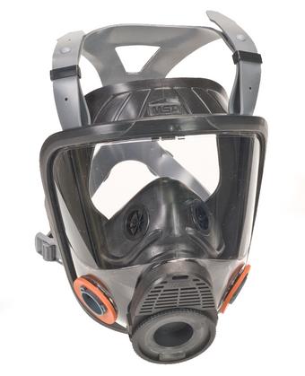 msa advantage 4200 full mask resp facepiece silicone rubber harness size m