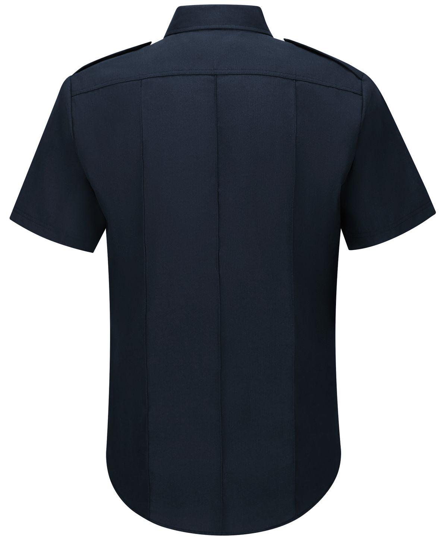 Workrite FR Shirt FSC6, Fire Chief, Classic Short Sleeve Midnight Navy Back