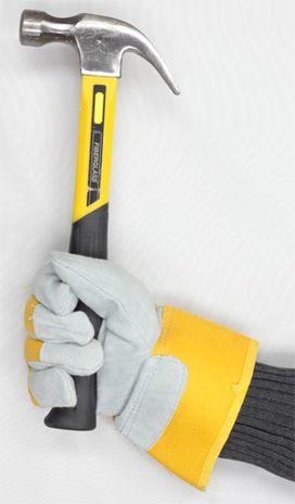 Superior 66BRBOAWT Waterproof Winter Work Gloves with Hammer