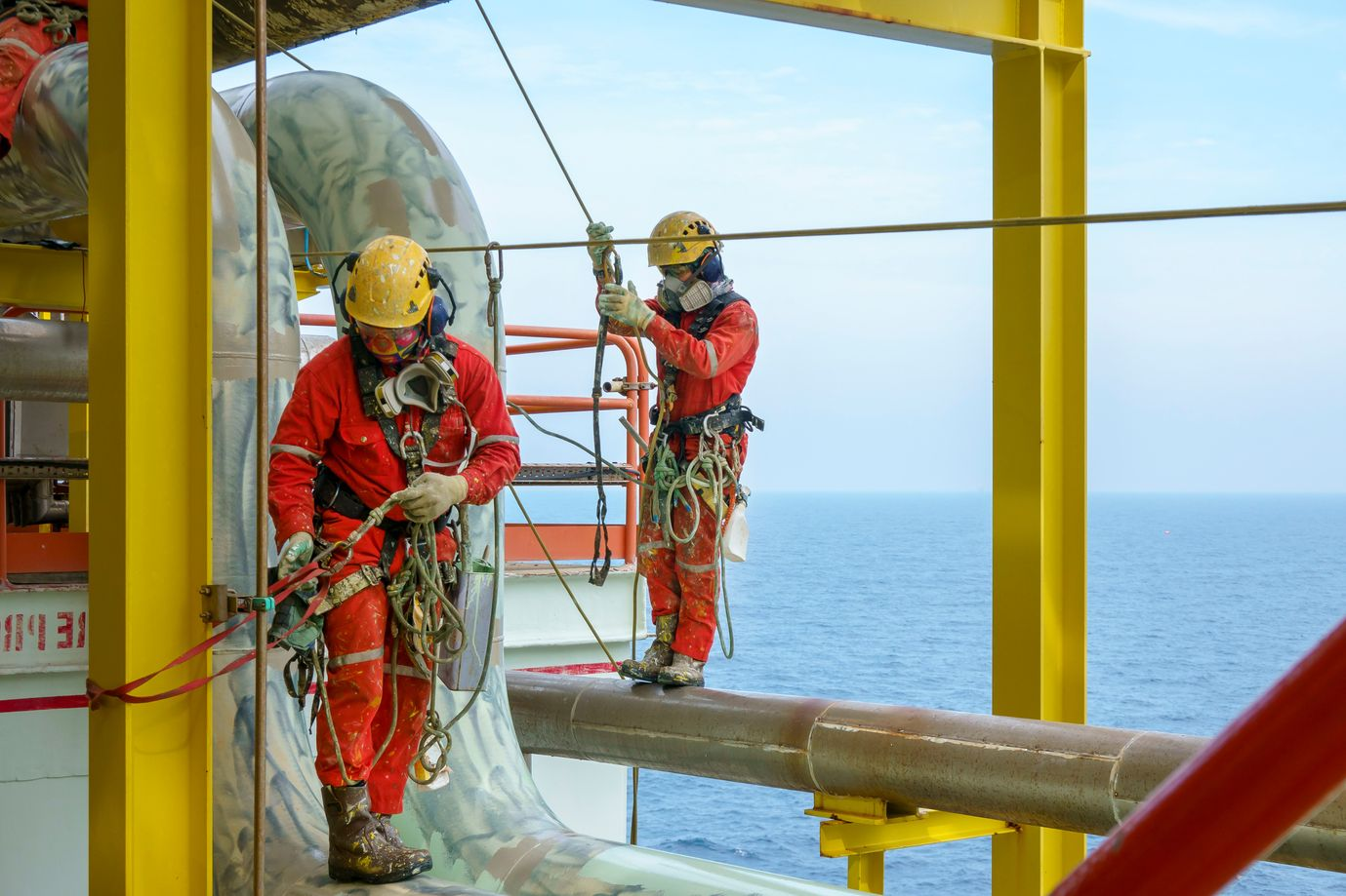 Oil Rig Safety Workers