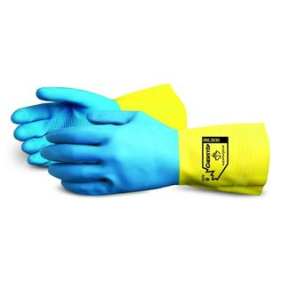 Superior NL3030 Chemstop Unsupported Neoprene Over Latex Chemical Resistant Gloves