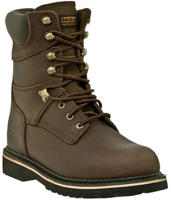 "McRae 8"" Steel Toe Leather Work Boots MR88344"