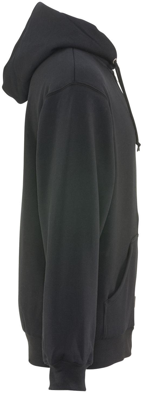 RefrigiWear 0487 Thermal Zipper Work Sweatshirt - With Hood, 2 Layer Black Right