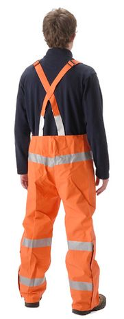 nasco petrolite arc flash fire rated petroleum resistant rain bibs back