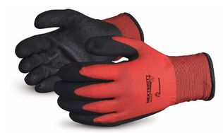 Superior Dexterity SNTAPCX Winter Lined Nylon Gloves with Textured PVC Palms