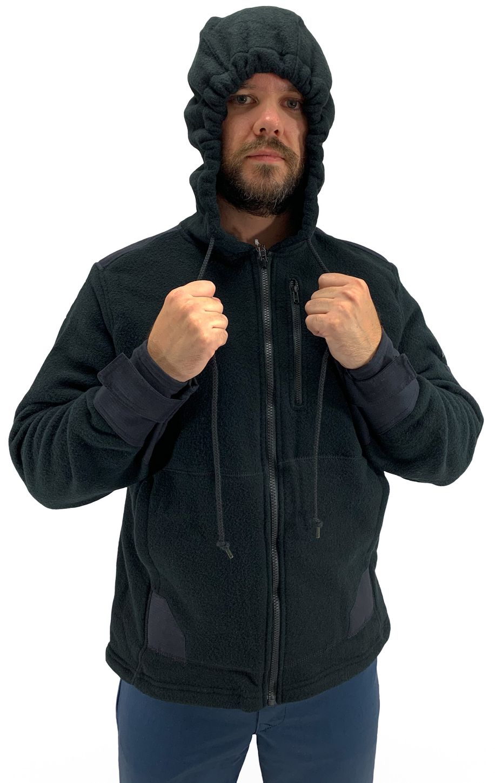Bulwark FR Modacrylic Blend Fleece Hoodie SMH8 Front Zip Front Example