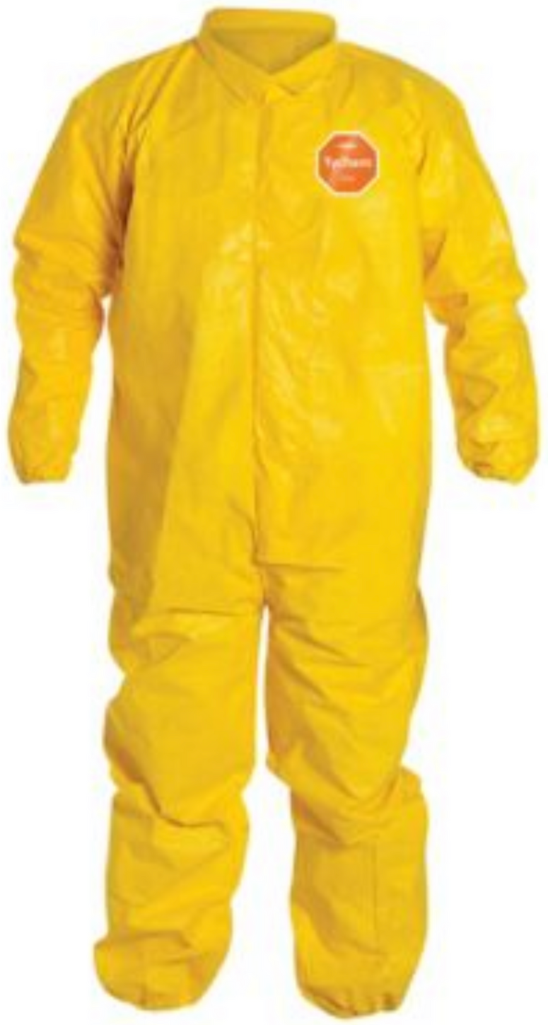 DuPont Tychem QC Coveralls with Elastic Wrists and Ankles QC125 Front