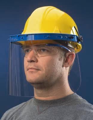 Crews 101 Nylon Faceshield On Hard Hat