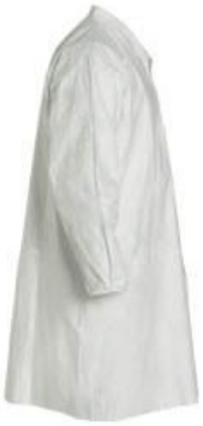 DuPont Tyvek Frock with Elastic Wrists & Front Snap Closure - TY211SWH Right Side