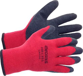 4works HB1351 Heavy-Duty Latex Palm Coated Gloves