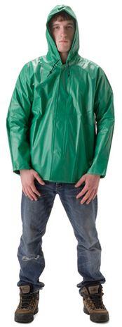 nasco acidbasic acid resistant hooded waterproof rain jacket