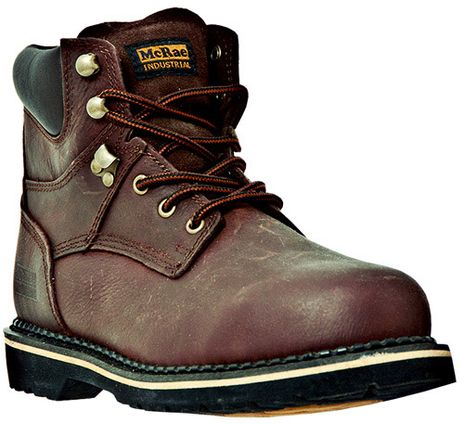 """McRae 6"""" Steel Toe Leather Work Boots MR86344"""