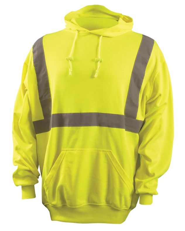 Occunomix Sweatshirt LUX-SWTLH Lightweight Hooded Pullover - High Visibility Front