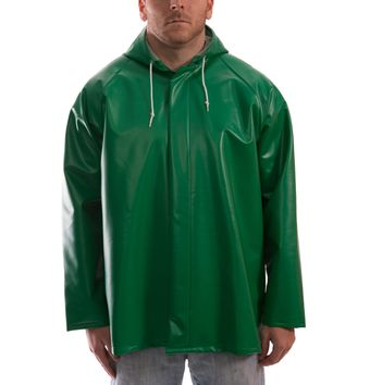 Tingley J41108 Safetyflex® Flame Resistant Jacket - PVC Coated, Chemical Resistant, with Attached Hood Front