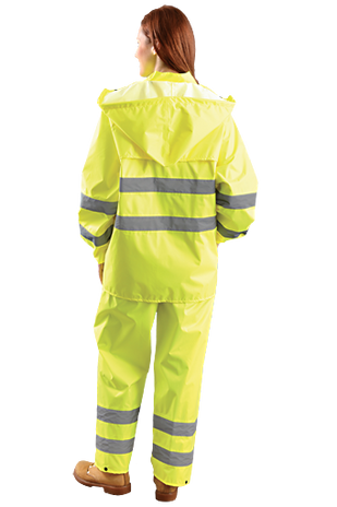 Occunomix LUX-TRJKT Breathable High Visibility Rain Jacket, Class 3