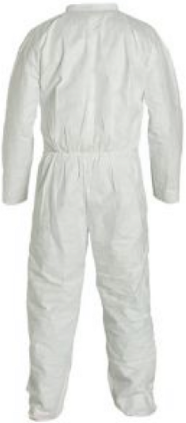DuPont Tyvek Coverall with Collar - Open Wrists and Ankles - TY120SWH Back