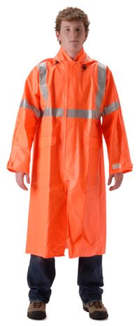 nasco arclite hi viz fire resistant orange rain coat