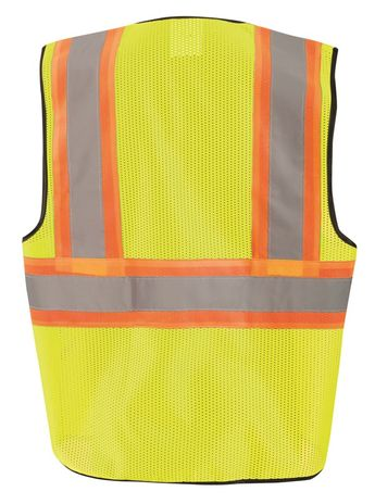 Occunomix ECO-GC2T High Visibility Two Tone Mesh Vest Back Yellow