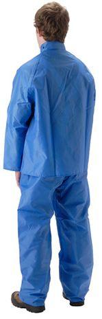 nasco worktruff 600j lightweight blue rain suit