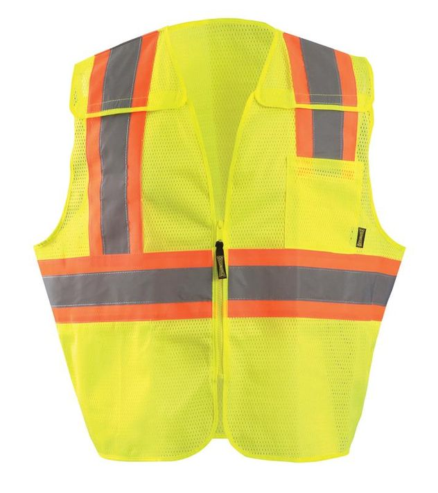 Occunomix ECO-IMB2T Break-Away Two-Tone Mesh Vest Front Yellow
