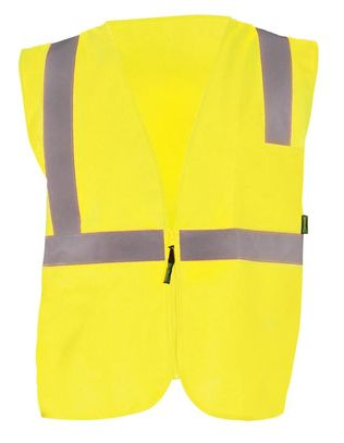 Occunomix Class 2 Solid Standard Vest With Zipper Front Yellow