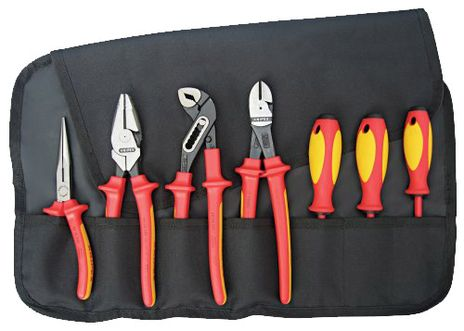 Knipex Tools High Leverage Insulated Pliers and Screwdriver Tool Set 9K 98 98 26 US