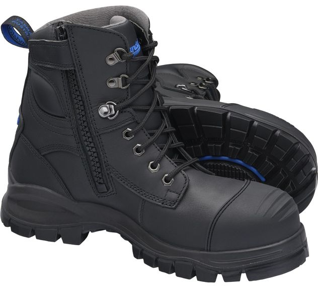 """Blundstone 997 XFOOT Rubber Ankle Lace-Up Steel Toe Boots - 6"""", Water Resistant"""