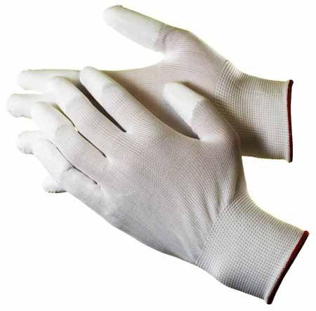Fingertip polyurethane coated gloves hq4201